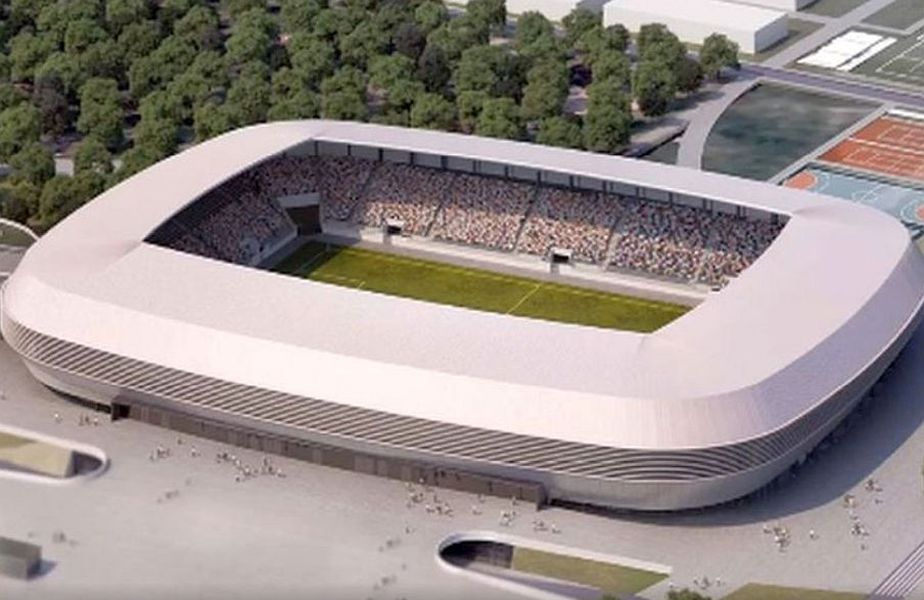 Acesta este proiectul final pentru construcția noului stadion din Oradea FOTO Facebook
