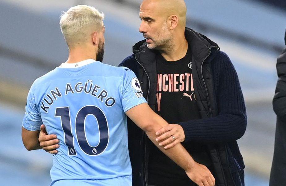 Kun Aguero și Guardiola, foto: Guliver/gettyimages