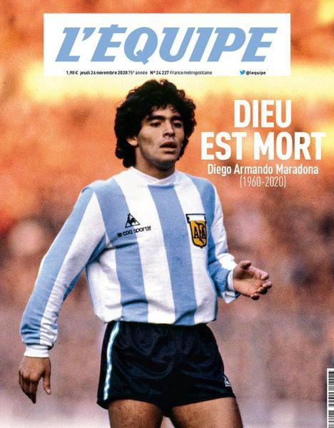Ziarele internaționale după decesul lui Maradona