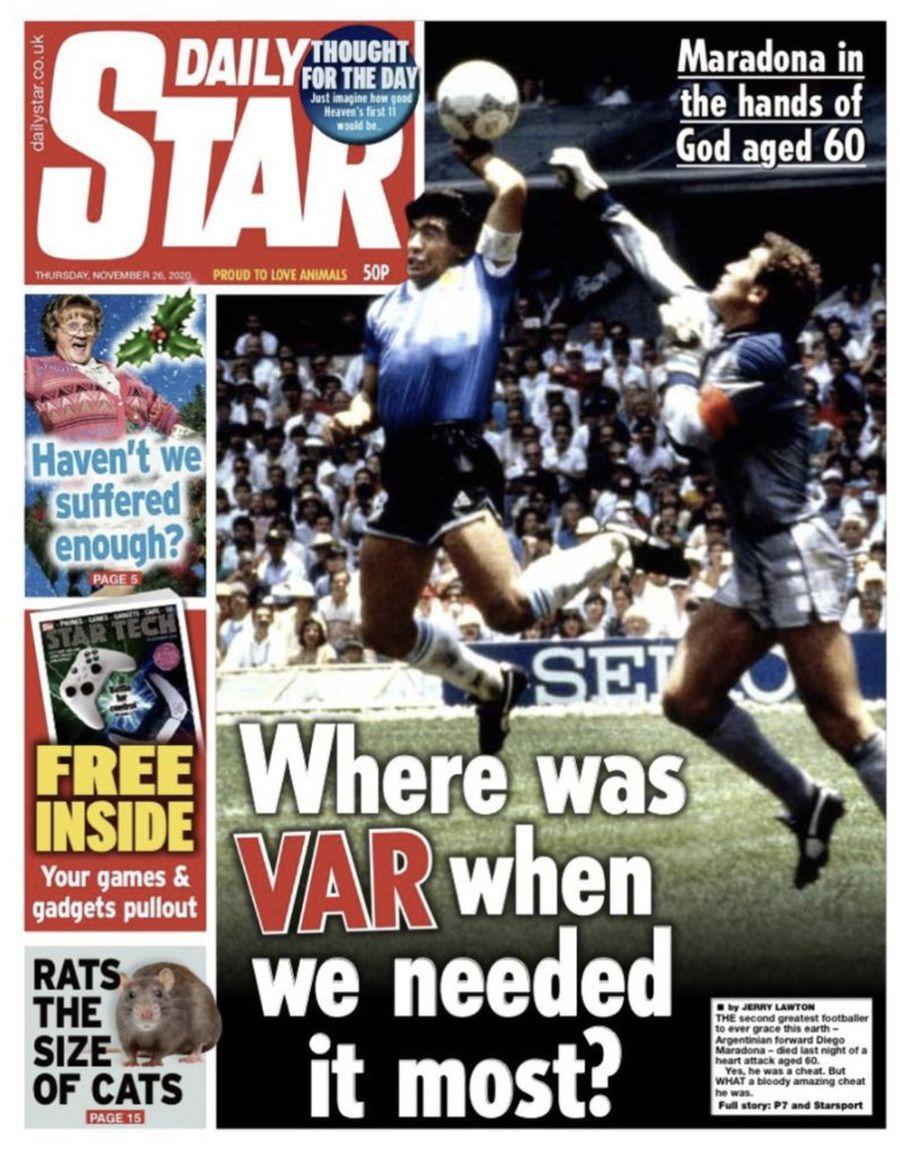 Coperta Daily Star de astăzi