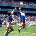 """""""Mâna lui Dumnezeu"""", din Argentina - Anglia 2-1"""