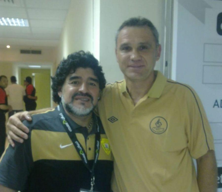 Mihali și Maradona / FOTO: Evz