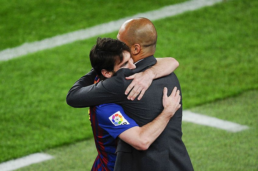 Leo Messi și Pep Guardiola // FOTO: Guliver/GettyImages
