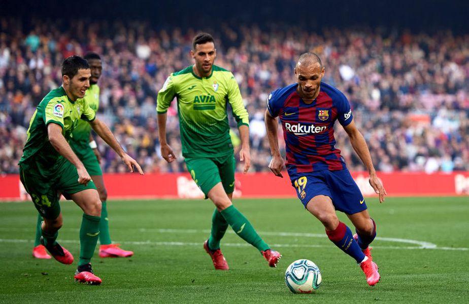 Martin Braithwaite, în partida Barcelona - Eibar 5-0 // Foto: Getty