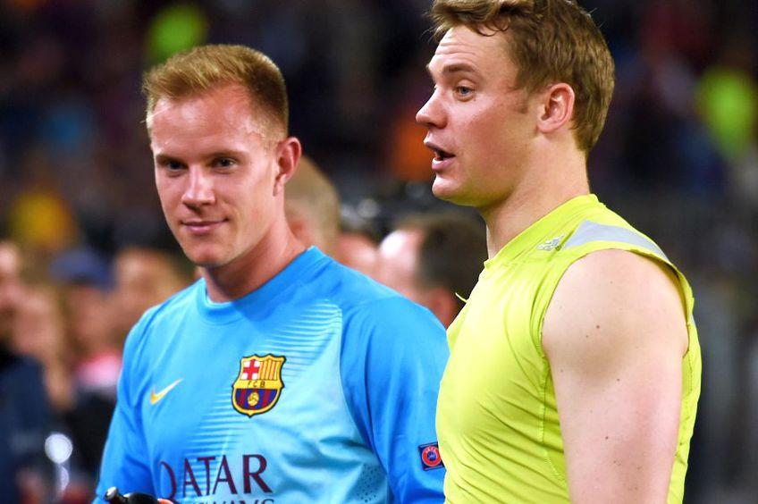 Manuel Neuer, în dreapta, alături de Ter Stegen. foto: Guliver/Getty Images