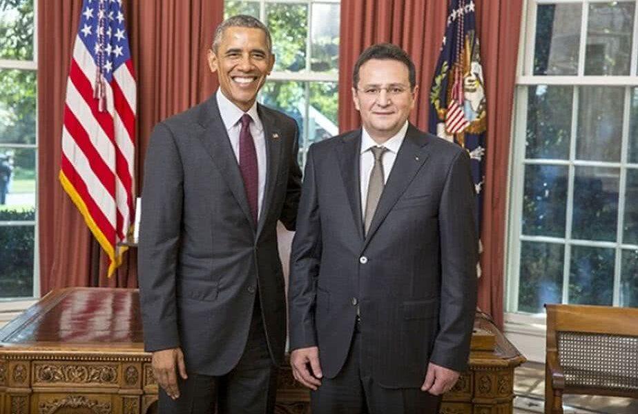 George Maior, în dreapta, alături de Barack Obama, fostul președinte SUA