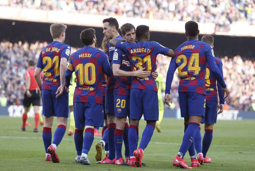 Jucătorii Barcelonei // Sursa: Getty