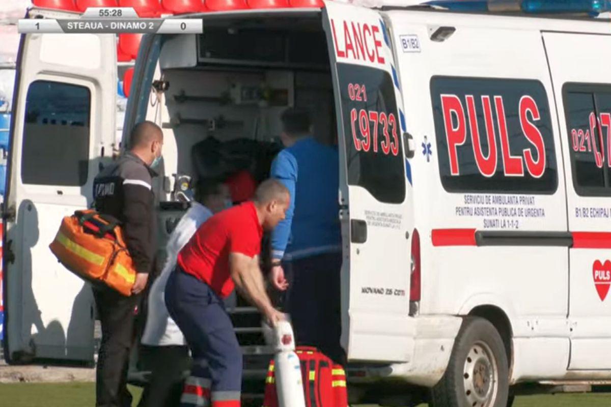 Accidentare Mitran CSA Steaua - Dinamo 2