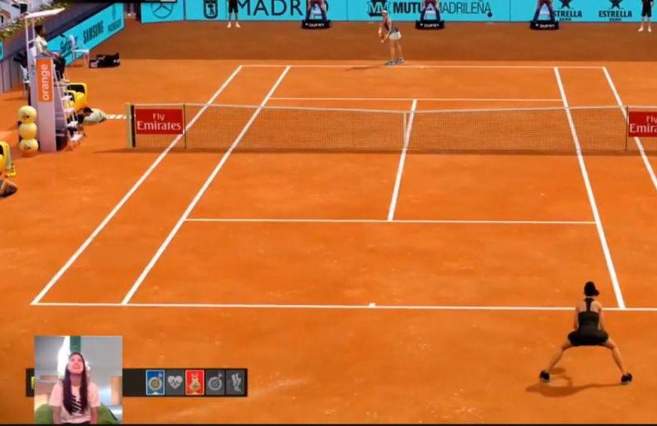 Sorana Cîrstea s-a distrat la turneul virtual de la Madrid