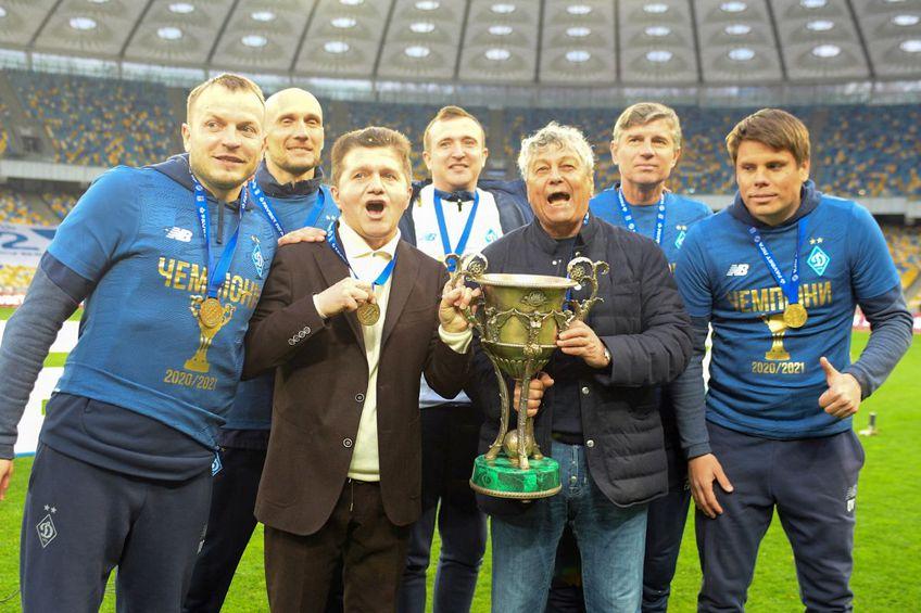 Mircea Lucescu a cucerit campionatul în Ucraina alături de Dinamo Kiev // foto: Facebook @ FC Dynamo Kyiv