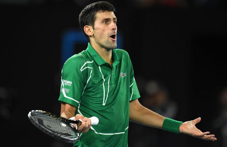 Novak Djokovic e în mijlocul unei intense polemici Foto Guliver/GettyImages