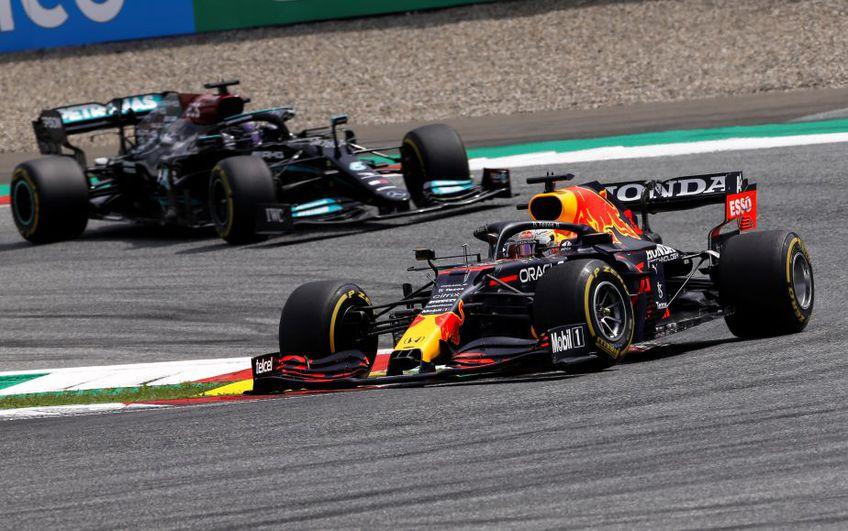Max Verstappen a condus în permanență cursa în fața lui Lewis Hamilton Foto Imago Images