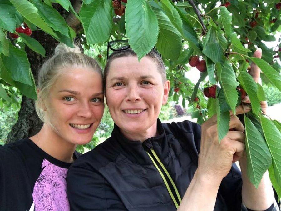 Împreună cu mama ei, Svetlana Foto Instagram