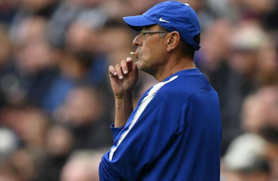 Maurizio Sarri este un împătimit al țigărilor // Sursă foto: Getty
