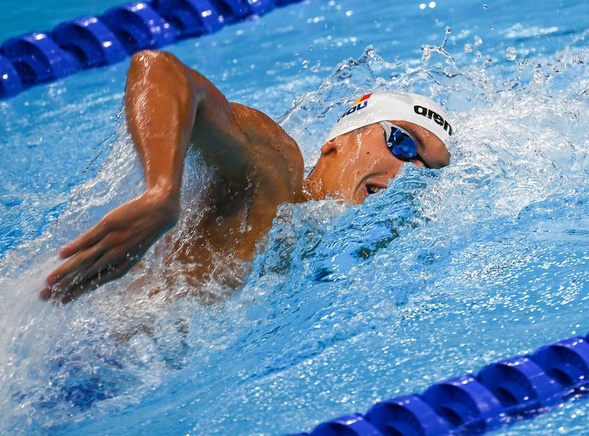 David Popovici la două sutimi de secundă de medalie la Jocurile Olimpice, dar cu nou record național! foto: Raed Krishan/GSP