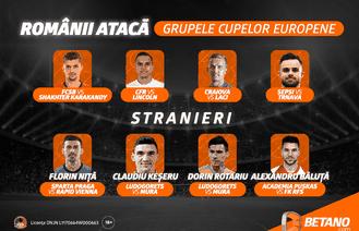 Românii luptă pentru grupele Cupelor Europene! Vino pe Betano să vezi ce șanse la calificare au favoriții tăi!