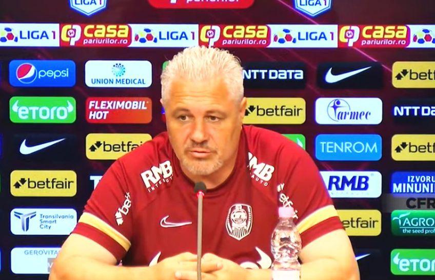Marius Șumudică (56 de ani) a susținut o conferință de presă înaintea meciului decisiv cu Lincoln Red Imps, din turul 2 preliminar al UEFA Conference League.
