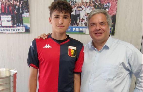 Genoa a mai transferat un fotbalist român de mare viitor » Jucătorul a fost prezentat oficial