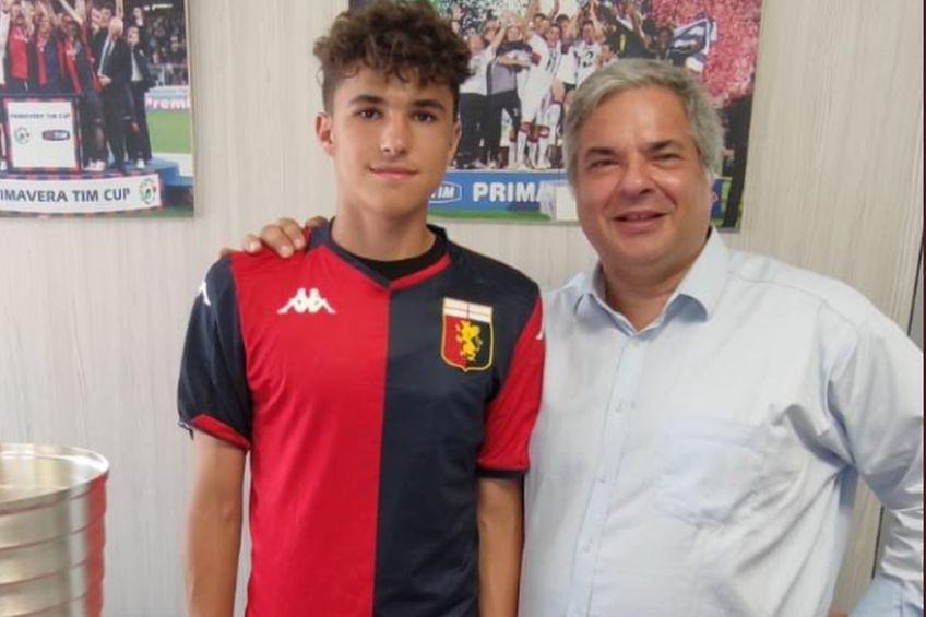 Ștefan Neamțiu Tudor a fost prezentat de Genoa / Sursă foto: Twitter Nicolò Schira
