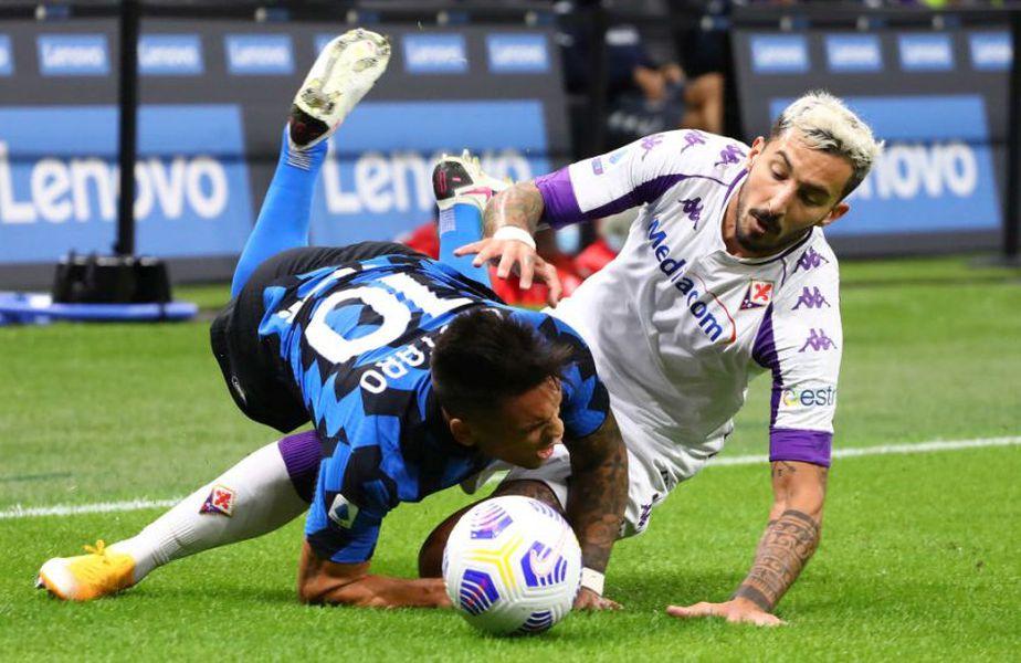 Meci nebun în Serie A. Inter a învins-o pe Fiorentina, scor 4-3, în etapa cu numărul doi, chiar dacă în minutul 86 trupa Viola conducea pe tabelă