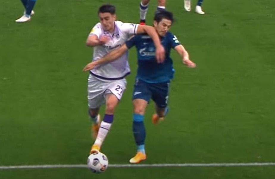 Ionuț Nedelcearu, stoperul de la Ufa, a fost depășit total la înfrângerea usturătoare suferită la Sankt Petersburg, 0-6 cu Zenit.