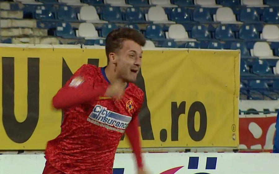 Andrei Istrate, bucuros pentru primul gol la FCSB // FOTO: Captură TV Telekom Sport