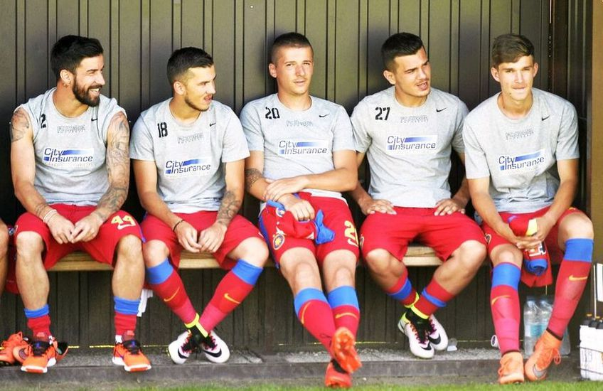 Sebastian Chitoșcă, al doilea din stânga la FCSB // foto: GSP
