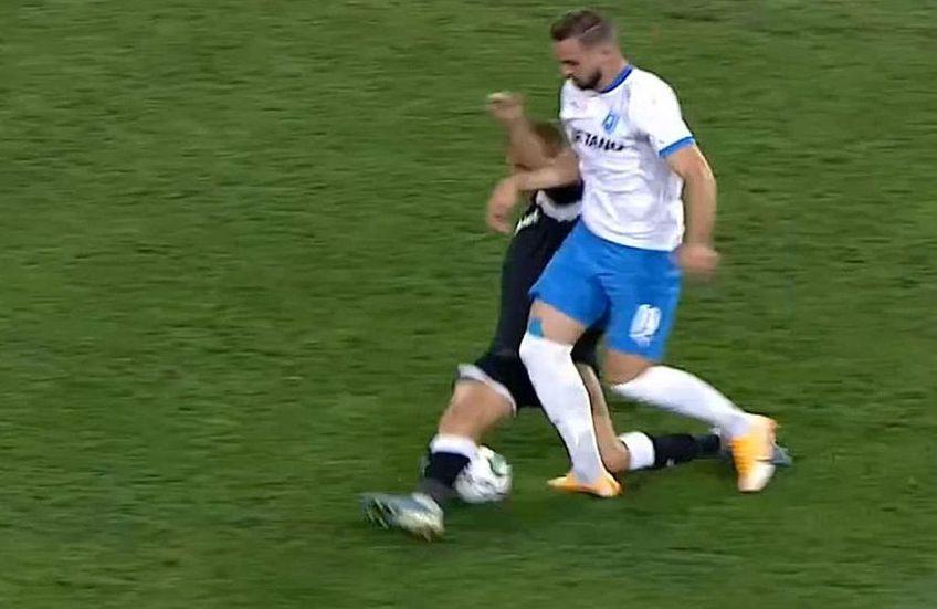 Momentul accidentării lui Elvir Koljic, în CS U Craiova - Poli Iași 1-0