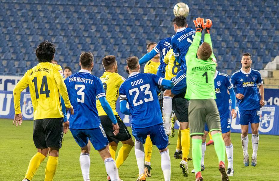 FC U Craiova a câștigat ultimul meci disputat, 1-0 cu Metaloglobus // foto: Facebook @ Fotbal Club Universitatea 1948