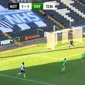 """Elisha Sam (23 de ani, atacant) a reușit sâmbătă un supergol pentru Notts County, în """"sferturile"""" de finală ale FA Trophy, 3-1 cu Oxford City."""