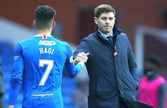 Rămâne Ianis Hagi fără antrenor?! Steven Gerrard, gata să preia un gigant european