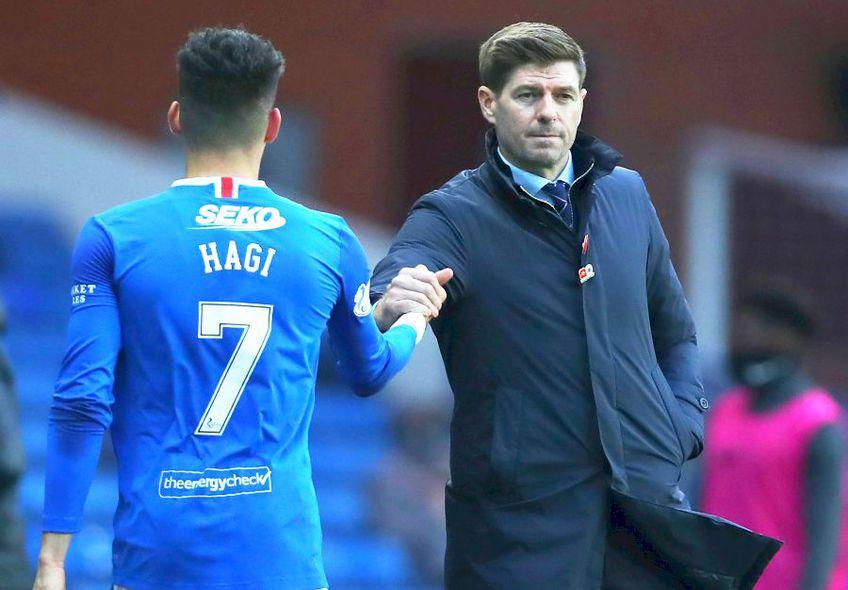 Steven Gerrard și Ianis Hagi, la Rangers, foto: Guliver/gettyimages