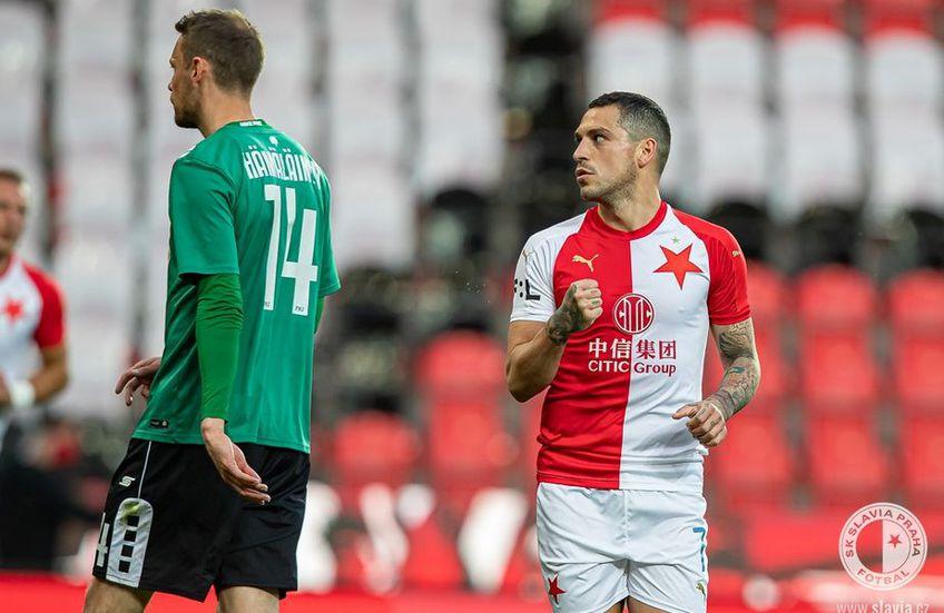 Nicolae Stanciu (27 de ani) a marcat două goluri în victoria obținută de Slavia Praga pe terenul lui Slovacko, scor 3-2.