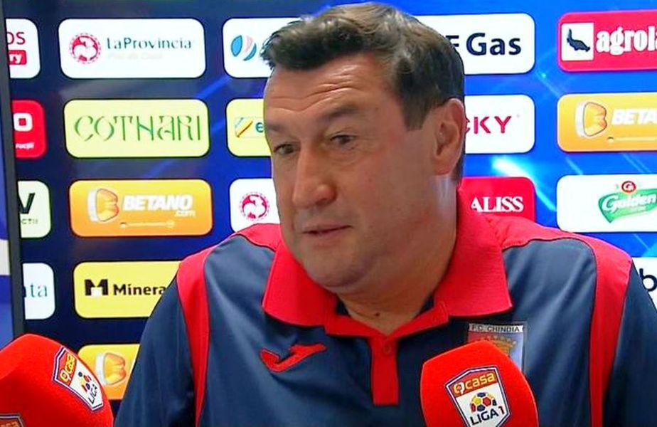 Viorel Moldovan, antrenorul Chindiei Târgoviște.