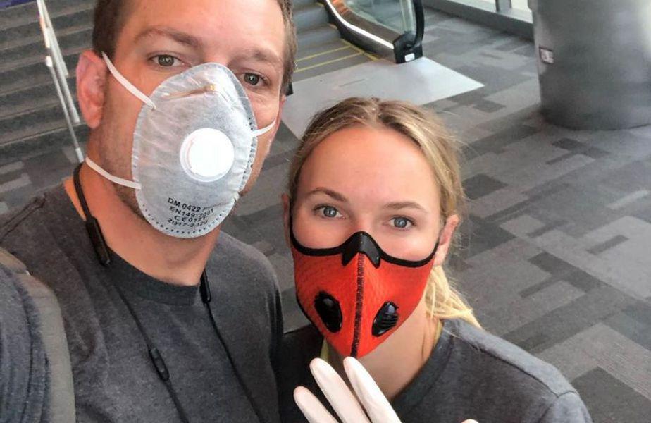 Caroline Wozniacki, alături de partenerul său. Sursă foto: Instagram Caroline Wozniacki