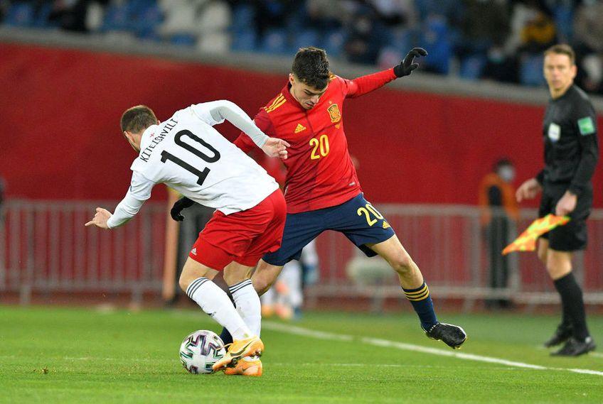 Spania a evitat o nouă rușine în preliminariile Campionatului Mondial, câștigând în prelungiri meciul cu Georgia, scor 2-1.
