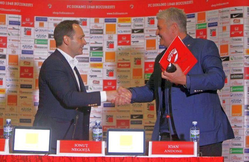 Ioan Andone e persoana de legătură în negocierile dintre Negoiță și spanioli. foto: fcdinamo.ro
