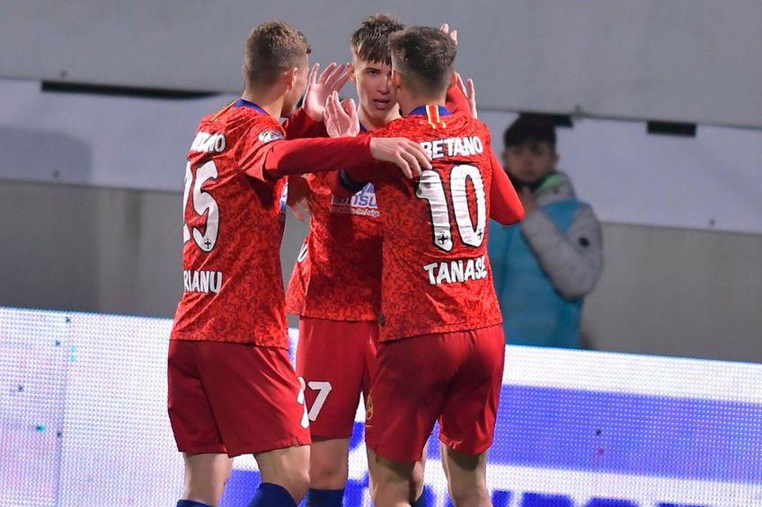 Florin Tănase este golgehterul Ligii 1 și al celor de la FCSB în toate competițiile // foto: Facebook @ FCSB