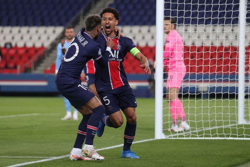 Marquinhos (26 de ani), căpitanul lui PSG, este un marcator obișnuit al fazelor eliminatorii din Liga Campionilor, în ciuda poziției pe care o ocupă, aceea de stoper.
