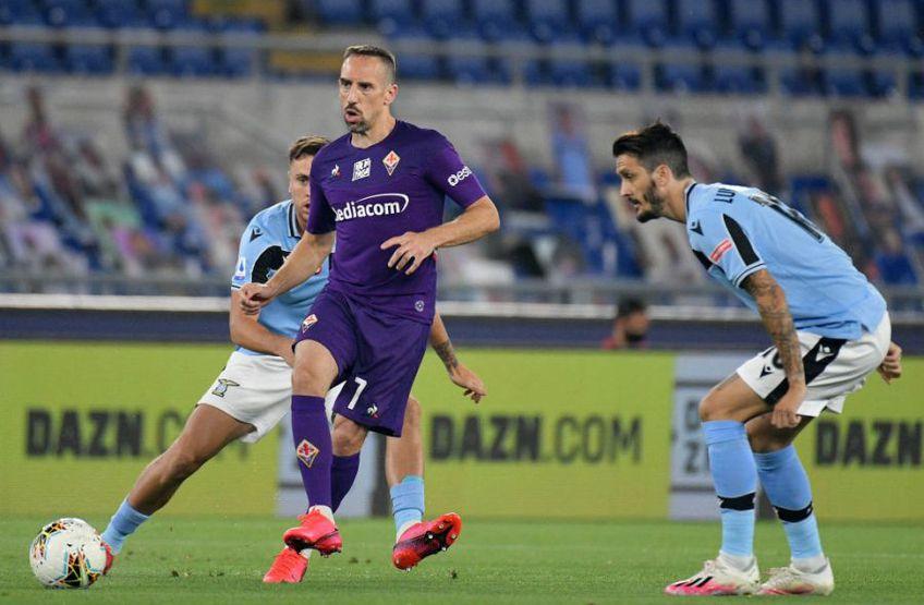 Franck Ribery a venit în 2019 la Fiorentina de la Bayern Munchen // Sursă foto: Getty