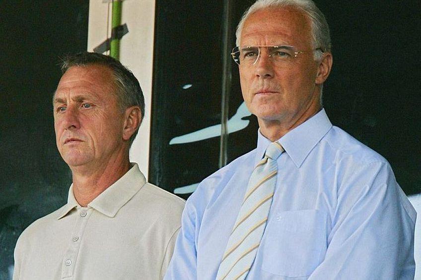 Johan Cruyff alături de Franz Beckenbauer // Sursă foto: Getty