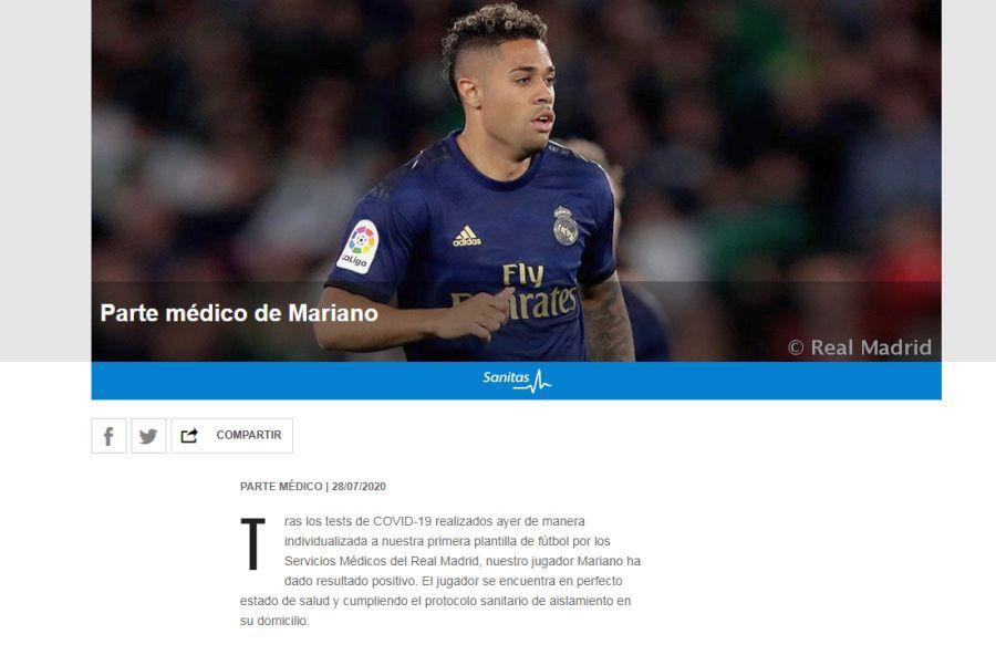 Comunicatul lui Real Madrid
