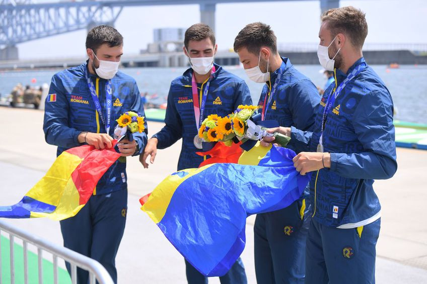 Argint pentru România! Mihăiță Țigănescu, Mugurel Semciuc, Ștefan Berariu și Cosmin Pascari, locul 2 la patru rame, foto: Raed Krishan/GSP