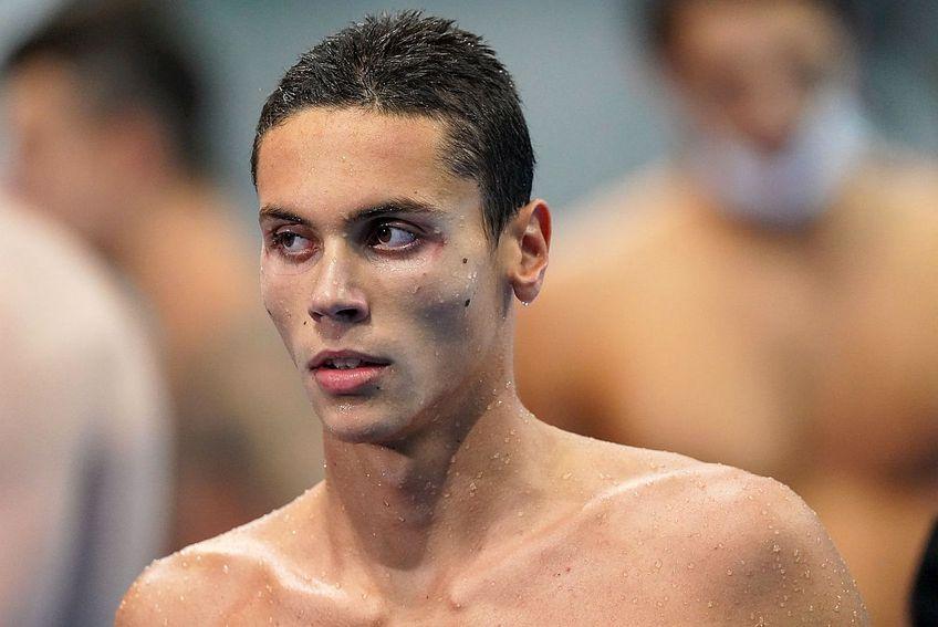 David Popovici s-a calificat în a doua finală olimpică la Tokyo, la proba de 100m liber. // FOTO: Raed Krishan