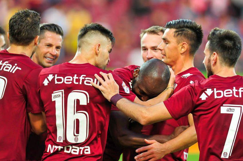 CFR Cluj a învins-o pe Lincoln Red Imps, scor 2-0 FOTO: facebook.com/cfr1907