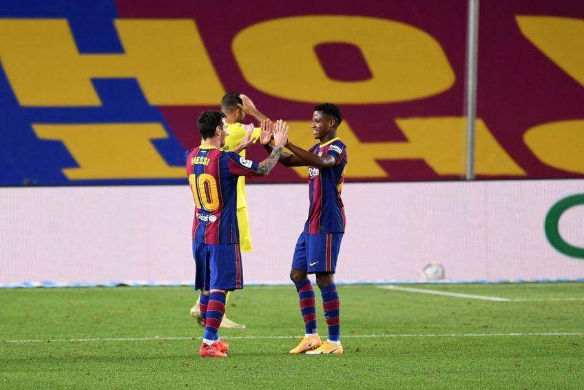 Lionel Messi şi Ansu Fati FOTO: GettyImages
