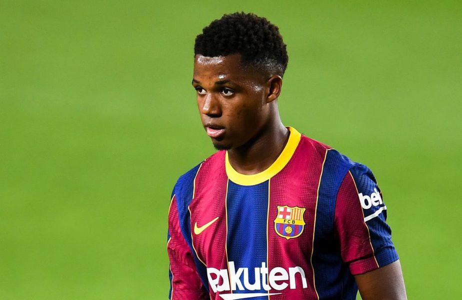 Ansu Fati, în Barcelona - Villarreal 4-0 // foto: Guliver/gettyimages