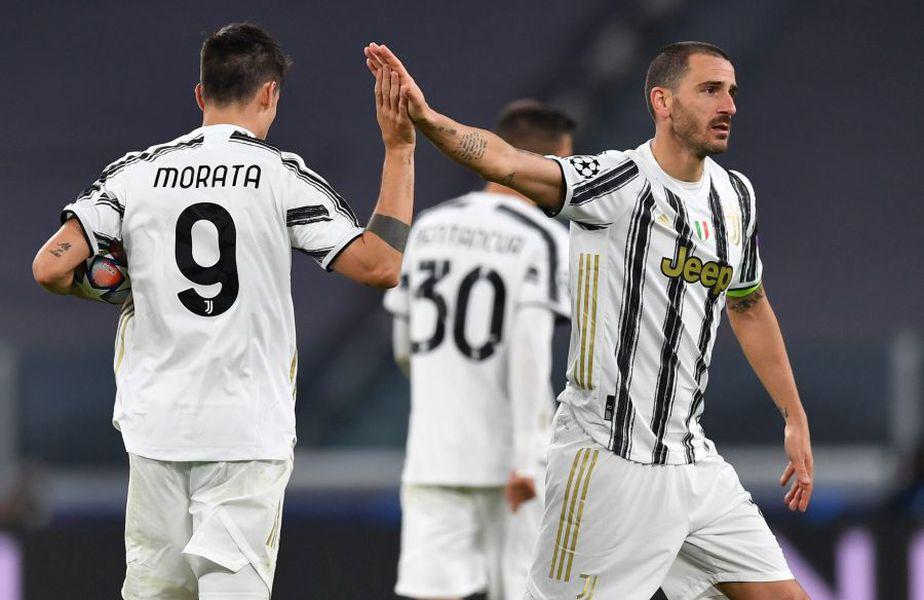 Alvaro Morata (28 de ani) a avut 3 goluri anulate de VAR în duelul Juventus - Barcelona, din grupa G a Ligii Campionilor.