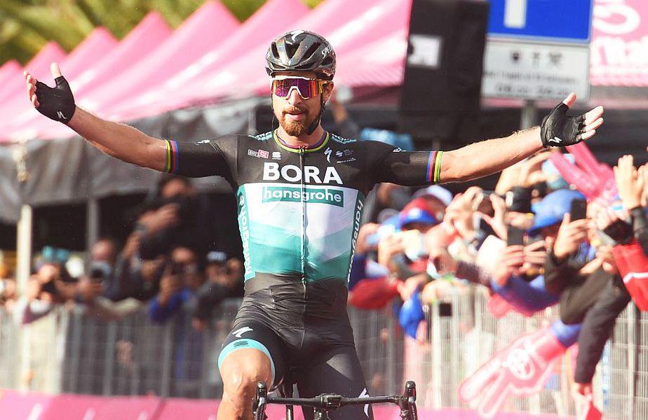 Peter Sagan la singura sa victorie în 2020, o etapă din Turul Italiei, foto: Guliver/gettyimages