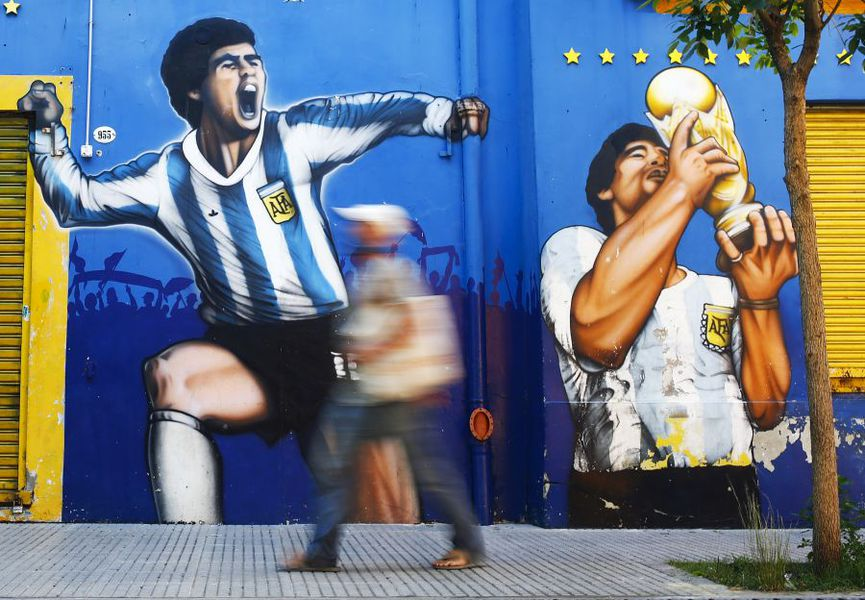 Maradona - graffiti